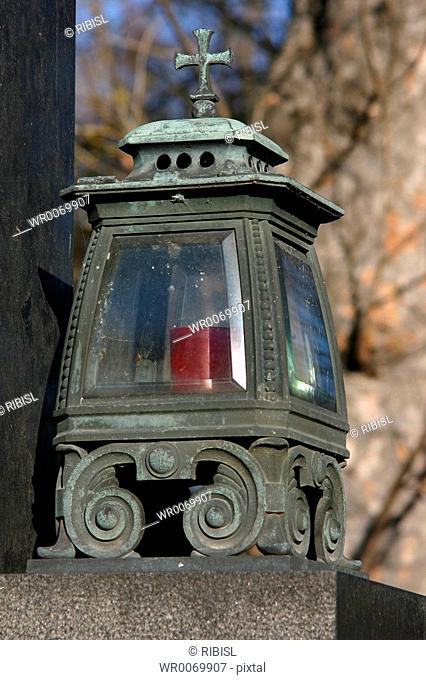 tomb lantern with candle