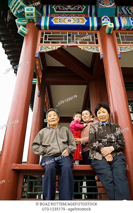 Three generations together