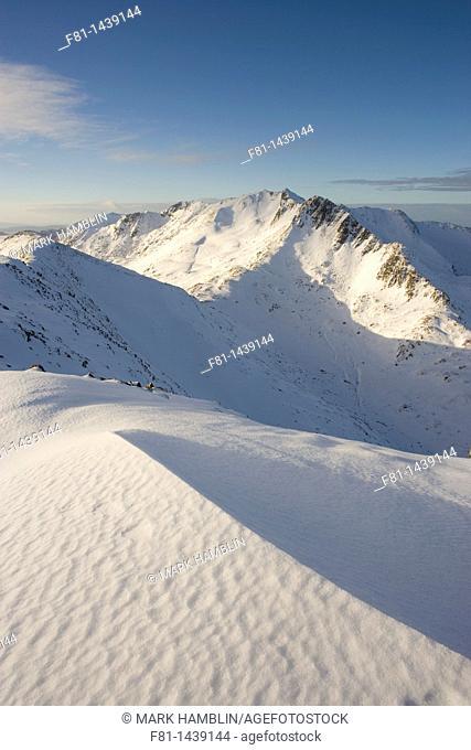 Faochag and Forcan Ridge in winter, Glen Shiel, Scotland, January