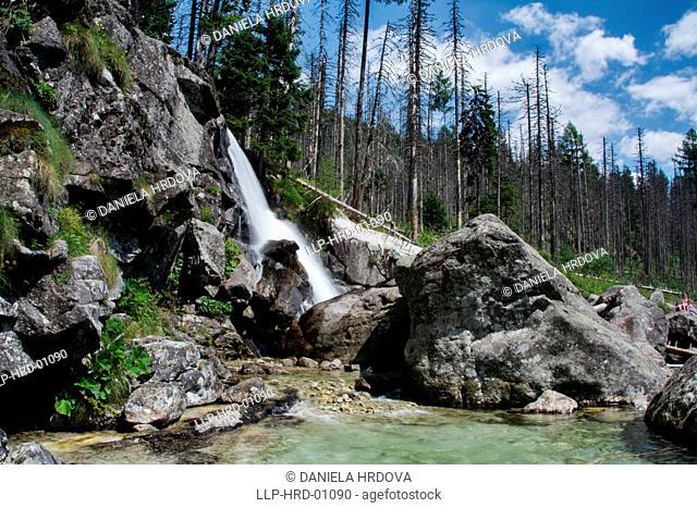 Tatra National Park, Slovakia, Waterfalls of the Cold Brook