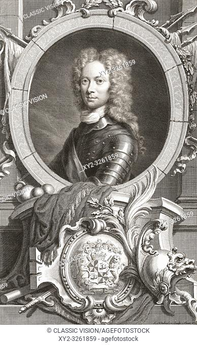 """John Campbell, 2nd Duke of Argyll, 1st Duke of Greenwich, 1680 â. """" 1743. Scottish nobleman. Field Marshal in the British Army"""