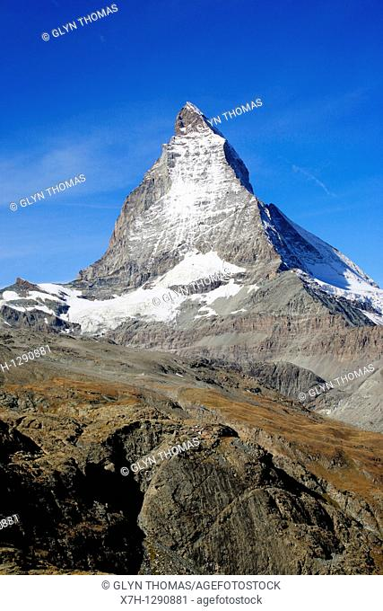 Matterhorn mountain viewed from Zermatt, Switzerland