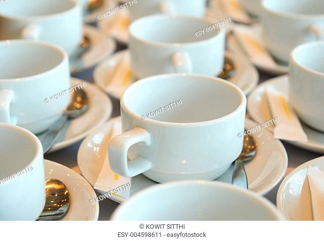 white coffee cup