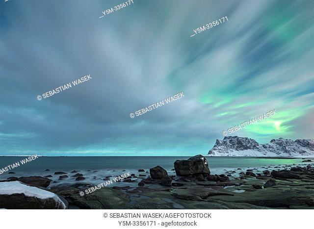 Uttakleiv Beach, Lofoten, Nordland, Norway, Europe