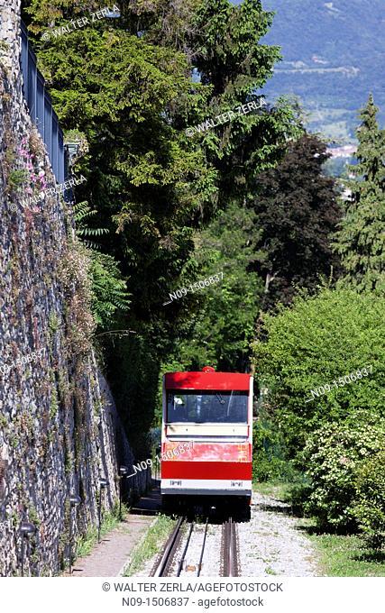 Funicular, Bergamo Alta, Bergamo, Lombardy, Italy