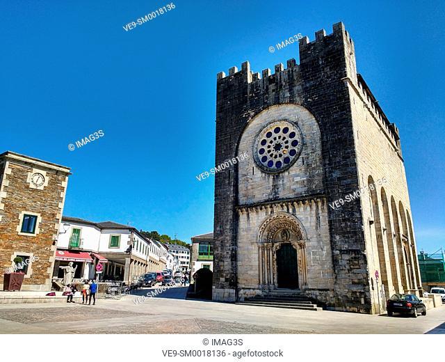 San Juan Romanesque church, Portomarín. Road to Santiago, Lugo province. Galicia, Spain