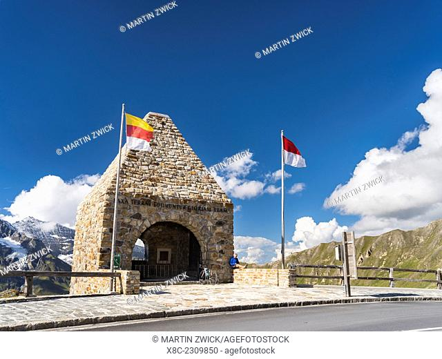 The Grossglockner High Alpine Road is mainly used by tourists and one of the major attractions of the Austrian Alps. Fuschertoerl with chapel commemorating the...