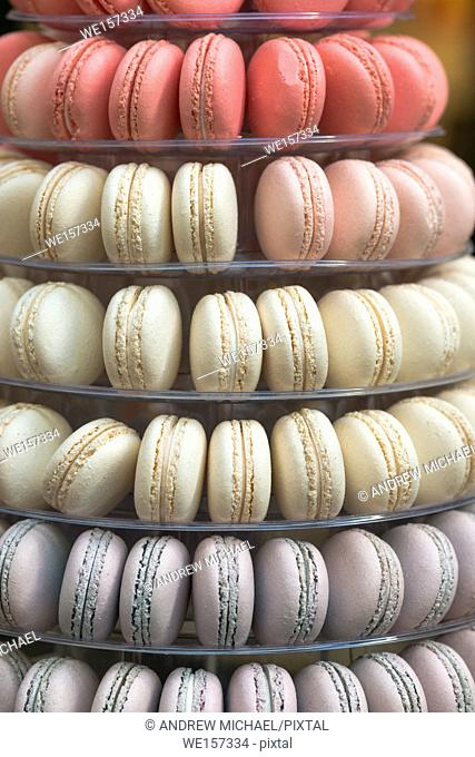 Tower made of Macaroons at the Royal Arcade, Melbourne, Australia