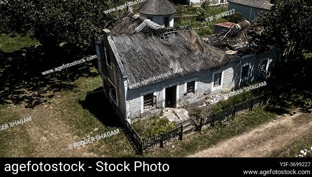 Old cottage destroyed in a storm