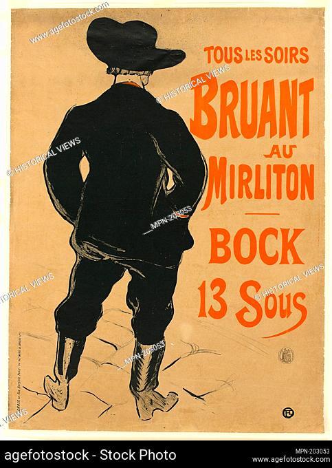 Aristide Bruant - 1893 - Henri de Toulouse-Lautrec French, 1864-1901 - Artist: Henri de Toulouse-Lautrec, Origin: France, Date: 1893