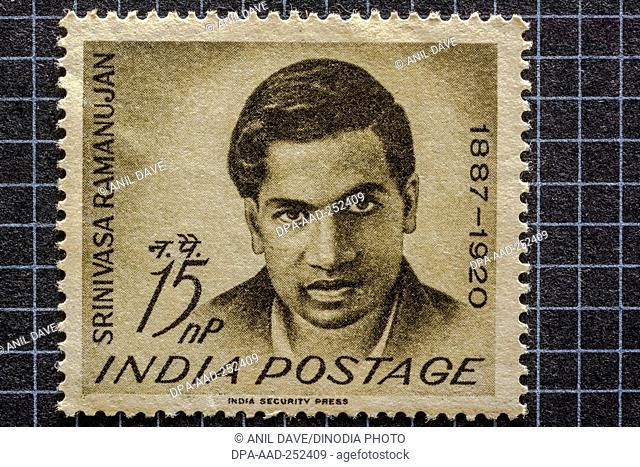 Srinivasa ramanujan, postage stamps, india, asia