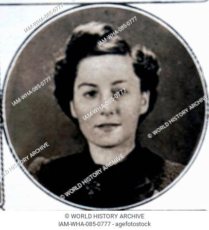 Photograph of Lilian Rolfe (1914-1945) a French Allied secret agent during the Second World War. Dated 20th Century