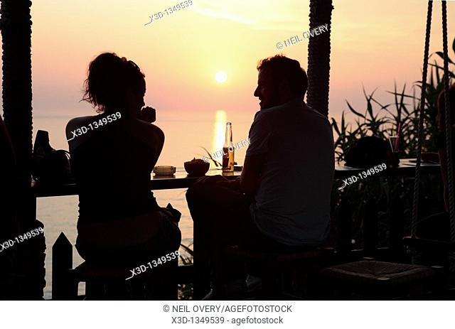 Couple in Bar, Peraloudes, Corfu, Greece