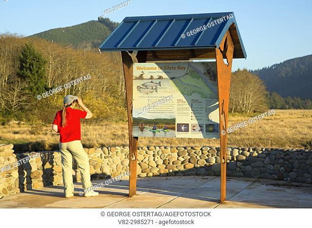 Refuge kiosk mapboard, Siletz Bay National Wildlife Refuge, Oregon