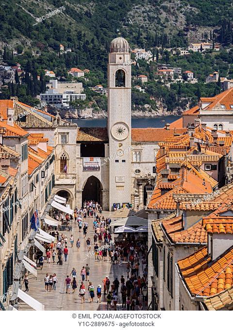 Stradun main street in old town, Dubrovnik, Croatia