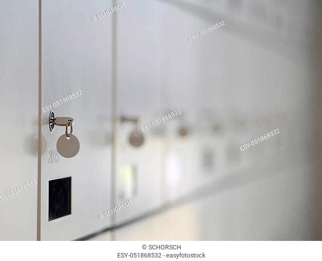 a lot of wardrobes with keys
