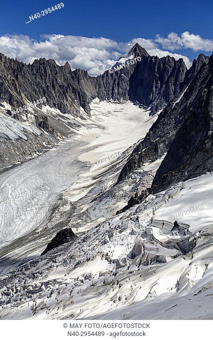 Chamonix, Glacier d'Argentière, Haute Savoie, France, Europe