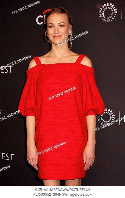 """Yvonne Strahovski 03/18/2017 PaleyFest 2018 """"""""The Handmaid's Tale"""""""" held at The Dolby Theatre in Hollywood, CA Photo by Izumi Hasegawa / HNW / PictureLux"""