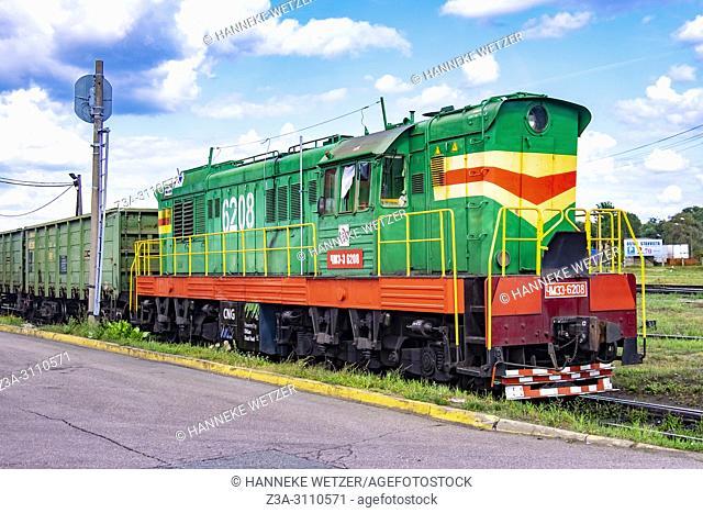 Old train in Riga, Latvia, Europe