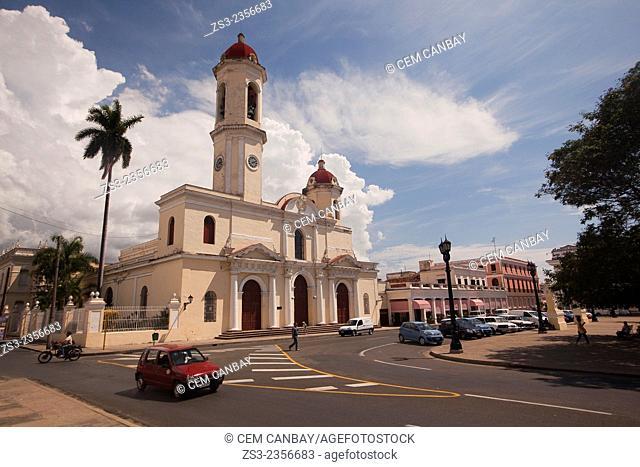 Purisima Concepcion Cathedral in Jose Marti Park, Cienfuegos, Cuba, West Indies, Central America