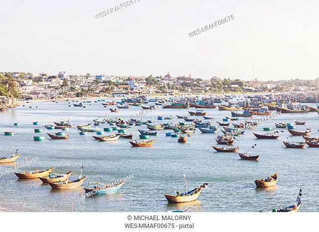 Vietnam, Mui Ne, fishing village, fishing boats