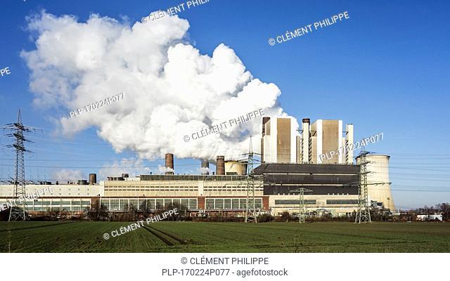 Weisweiler RWE brown coal power plant / Kraftwerk Weisweiler at Eschweiler, North Rhine-Westphalia / Nordrhein-Westfalen, Germany
