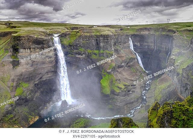Haifoss waterfall. Iceland higlands. Iceland