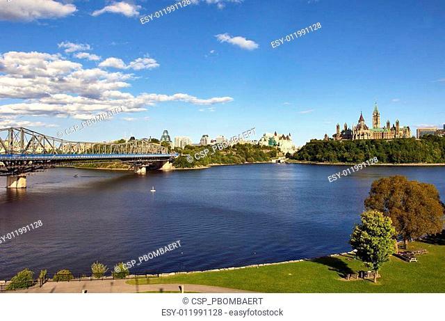 OTTAWA, CANADA – AUGUSTUS 8: Parliament Buildings and Fairmont