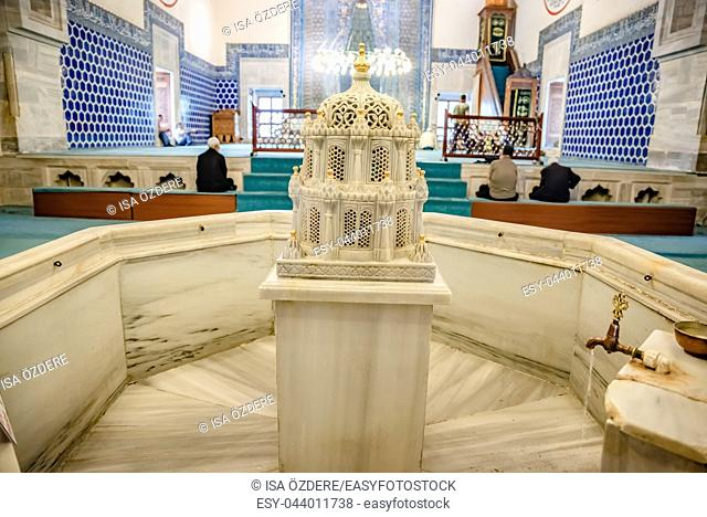 Interior view of Green Mosque also known as Mosque of Mehmed I is a part of the larger complex in Bursa,Turkey. 20 May 2018