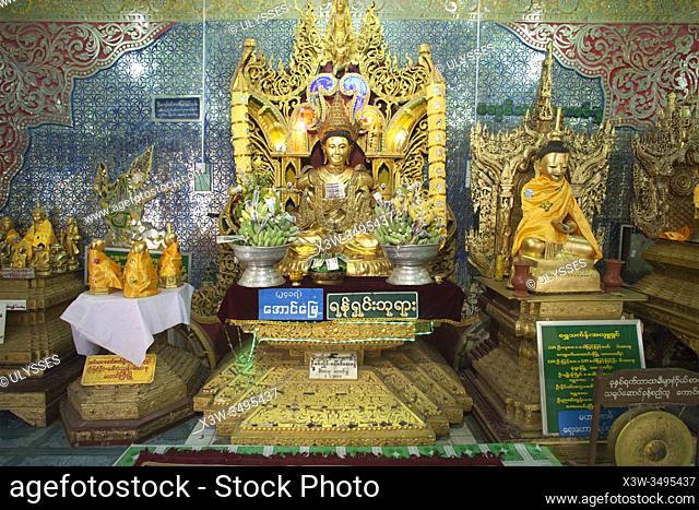 Popa Taung Kalat Temple, Popa Mountain, Mandalay region, Myanmar, Asia