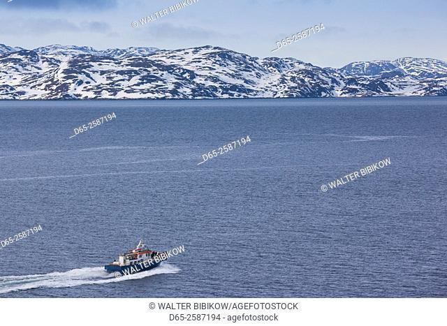 Greenland, Nuuk, Nuuk Harbor, water taxi