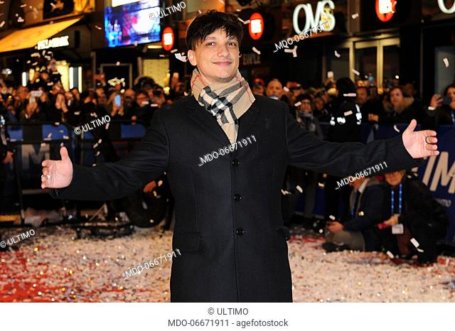 Ultimo on the Red Carpet of the 69th Sanremo Music Festival. Sanremo (Italy), Fabruary 4th, 2019