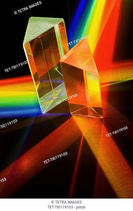 Light passing through two prisms