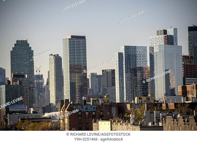 Development in Western Queens in the neighborhood of Long Island City in New York seen on Sunday, November 11, 2018. Amazon is reported to be considering the...