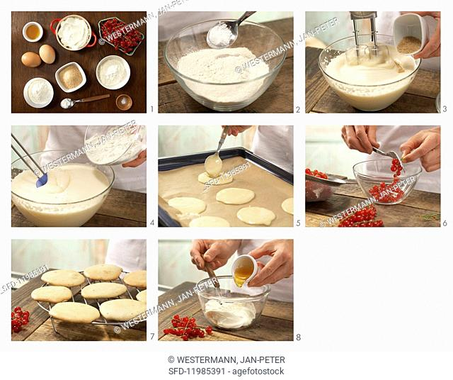 How to prepare sweet buckwheat biscuits with quark and redcurrants