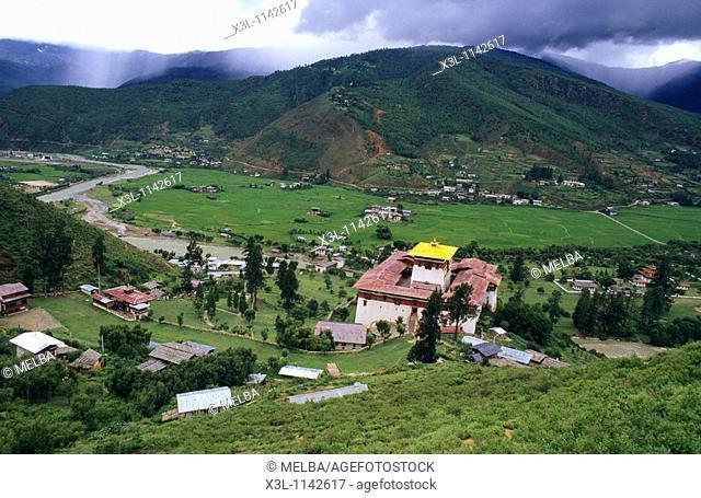Paro valley, Rinpung, Dzong, Bhutan