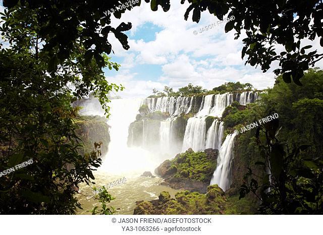 Argentina, Misiones, Iguazu National Park  The impressive Iguazu waterfalls - A world heritage site