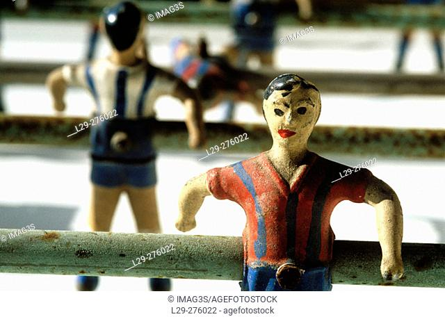 Old table football, detail