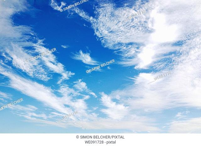 Cloud Filled Blue Sky