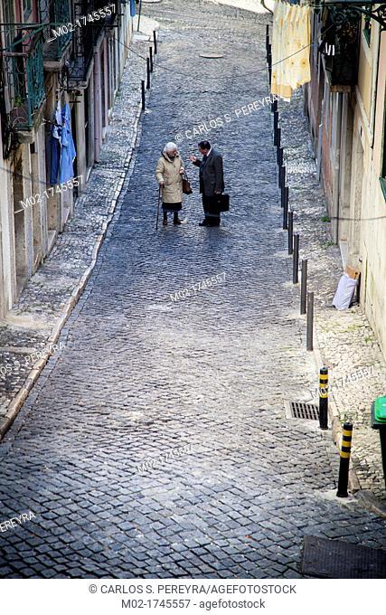 Chiado district, Lisbon, Portugal, Europe
