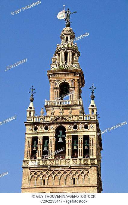 Giralda ( detail), Sevilla, Andalusia, Spain