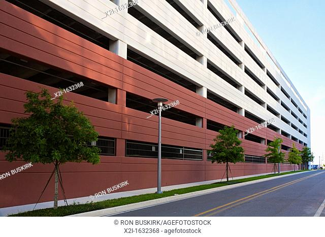 Architectural details of parking garage at Florida Hospital McRae in Orlando, FL