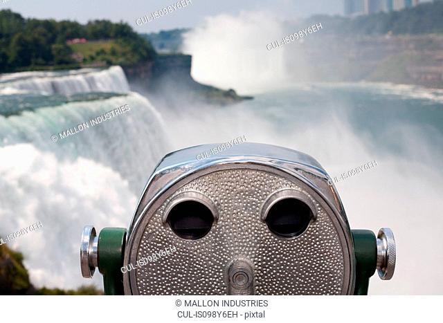 Coin operated binoculars, Niagara Falls, New York, USA