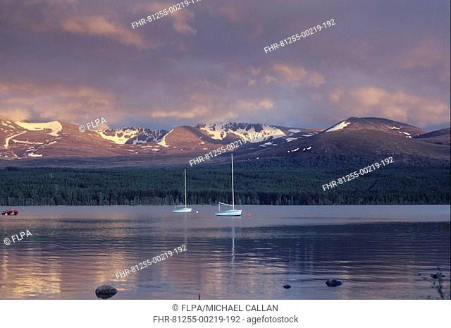 Scotland - Sunset over the Cairngorm Mountains