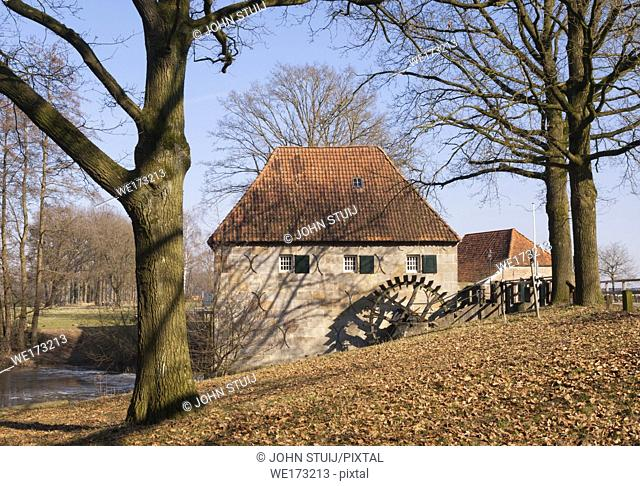 The Mallumsche watermill near Eibergen in the Dutch region Achterhoek