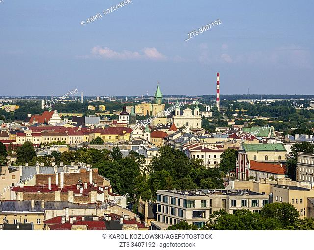 City Centre, elevated view, Lublin, Lublin Voivodeship, Poland