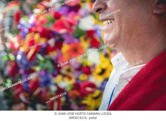 Silletero, Feria De Flores, Medellin, Antioquia, Colombia