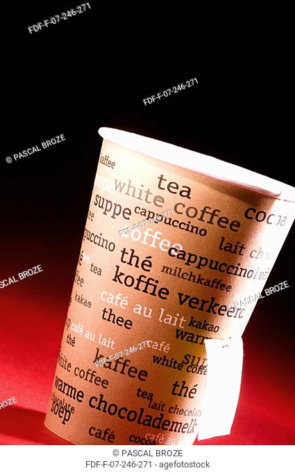 Close-up of a disposable cup