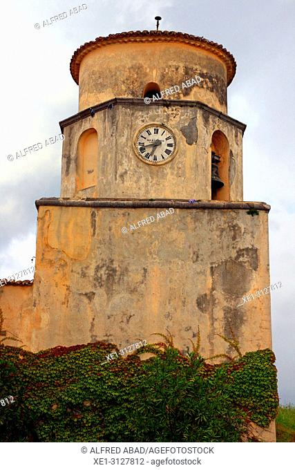 clock, basilica of San Biagio, Maratea, Basilicata, Italy