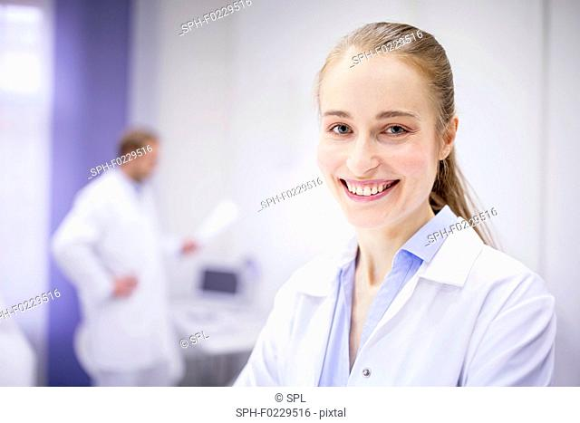Doctor smiling in clinic